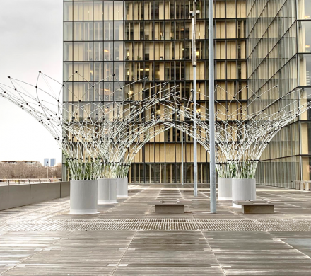 Canopees at the National library of France in Paris city
